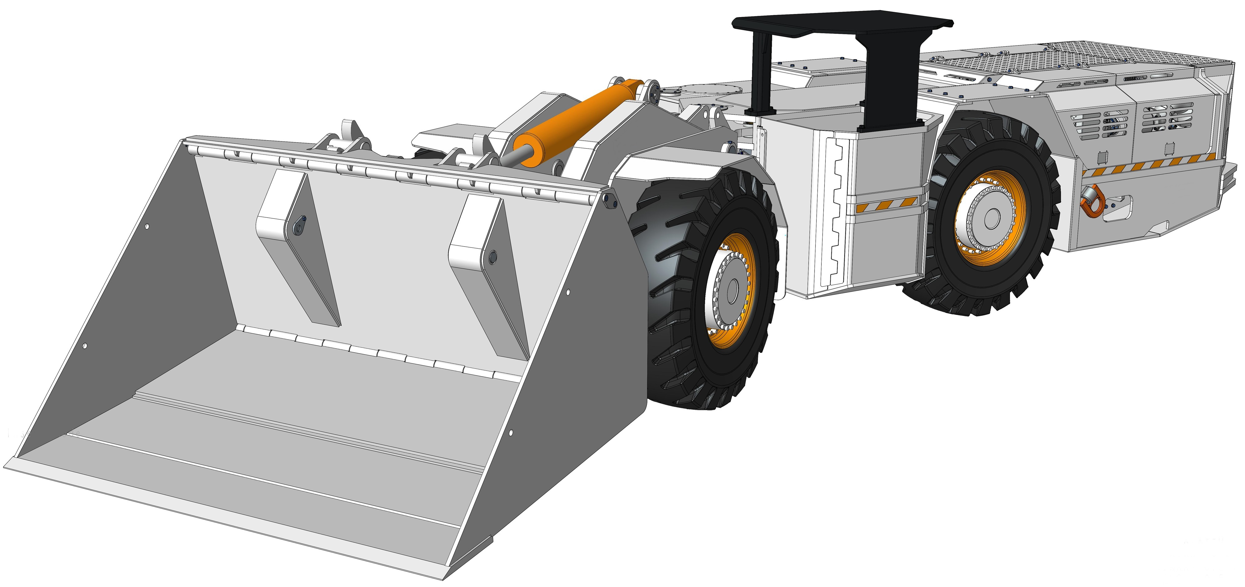 A Front Drivers side view of the TE UG Loader